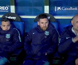 Messi e Valverde utilizam o método Cristiano. Captura/GOL
