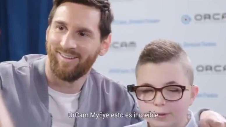 Messi, impactado por la startup israelí. Captura/MyEye