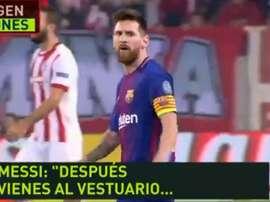 Messi n'était pas content. Twitter/Jugones