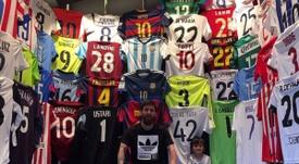 El museo de camisetas de Messi. LeoMessi