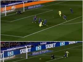 Two moments of Messi magic proved to be the difference between the sides at the break. CAPTURA