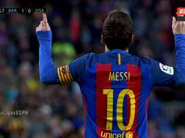 Messi abriu o ativo na 34ª rodada da LaLiga. Twitter