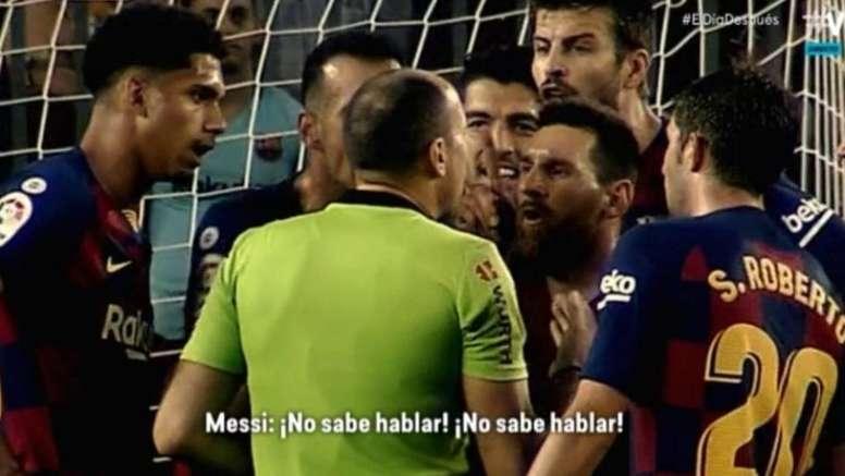 Las explicaciones de Messi a Mateu. Captura/ElDiaDespues/Movistar