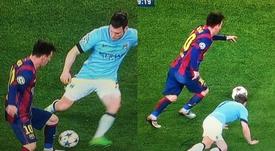 Milner aún recuerda el caño de Messi. Capturas/Champions/beINSpo