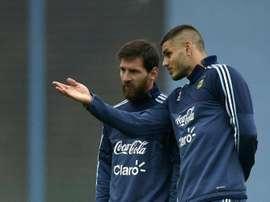 Messi serait la raison du mauvais accueil accordé à Icardi. AFP