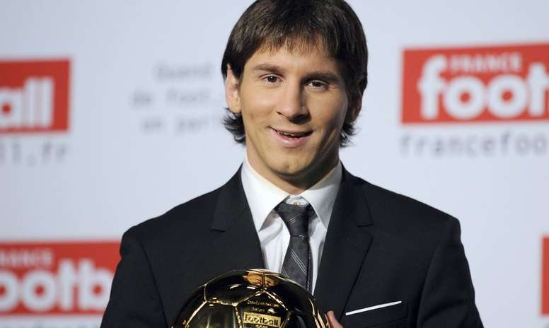 10 years since Messi won his first Ballon D'Or AFP