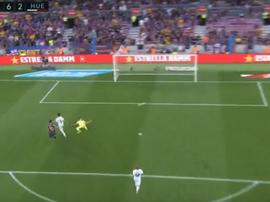 Messi scored his second against Huesca in LaLiga. LaLigaTV
