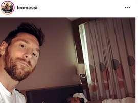 Messi se la jugó al 'Kun'. Captura/LeoMessi