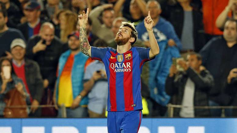 Messi was on top form as he scored three goals against Pep Guardiola's side. FCBarcelona