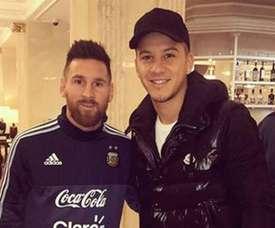 Messi n'a pas reconnu son compatriote. EFE