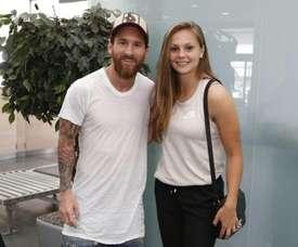 Messi et Martens posent ensemble. FCBarcelona