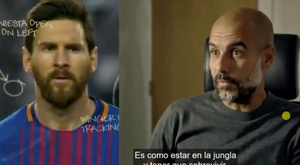 Guardiola conhece Messi como poucos. Captura/Amazon