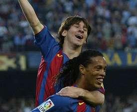 Messi tuvo un mentor increíble. AFP