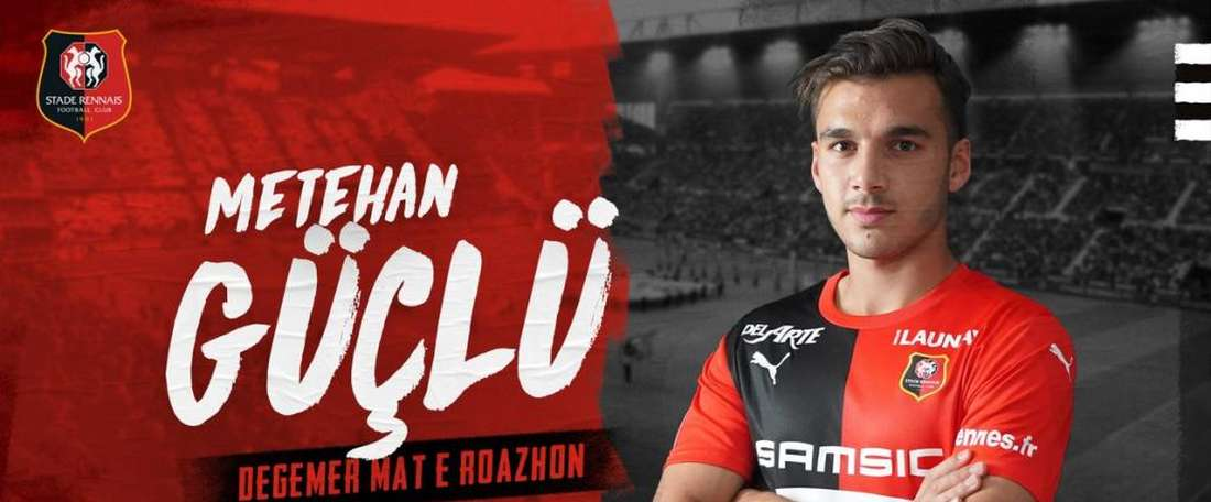 Guclu has completed his move to Rennes. Twitter/staderennais