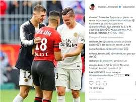 Meunier sur Instagram. Instagram/Thomas12meunier