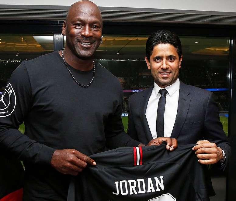 aad09119640 Pin Michael Jordan has been key to PSG's marketing success, TWITTER/PSG