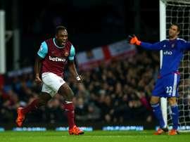 Michail Antonio celebra su (afortunado) gol, que suponía la igualada del West Ham al tanto inicial del Southampton. Twitter
