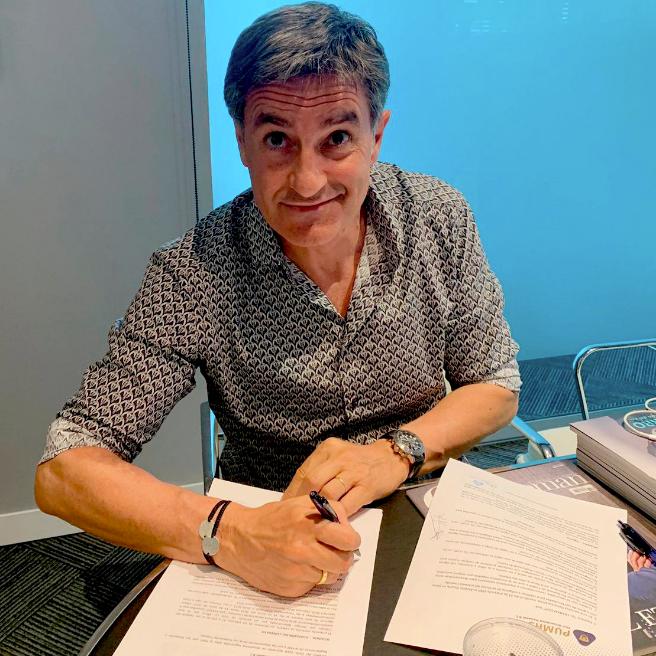 Míchel, nuevo entrenador de Pumas. Twitter/PumasMX
