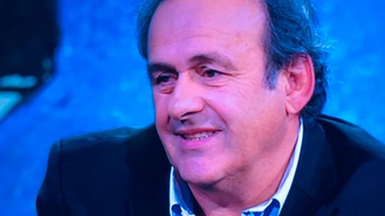 O VAR não convence Platini. Captura/RAI2