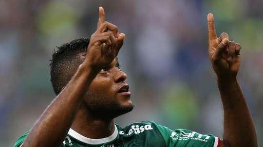 Borja fez o segundo da partida. Twitter/Palmeiras