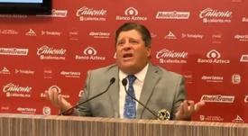 El 'piojo' Herrera explotó al preguntarse sobre los árbitros. Captura/WDeportes