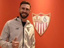 Layún vai vestir a camisa dos andaluzes, pelo menos, até ao final desta época. Twitter/SevillaFC