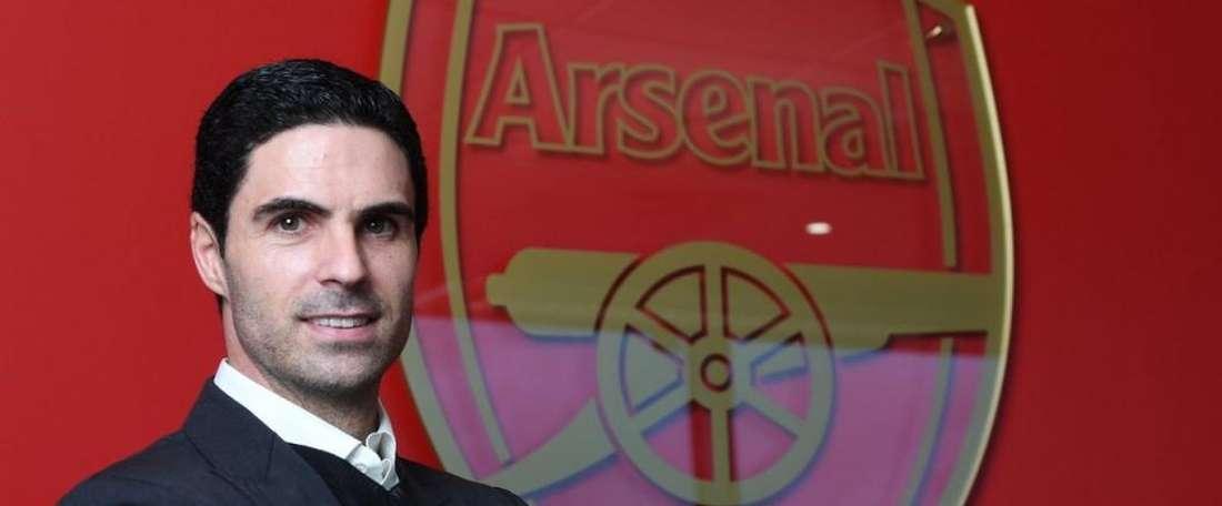 Arteta va entrainer ses anciens collègues. Twitter/Arsenal