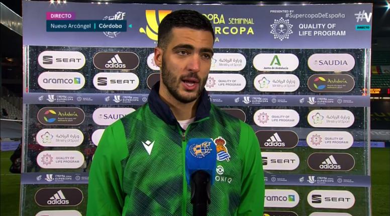 Mikel Merino analizó el choque ante el Barça. Captura/Vamos