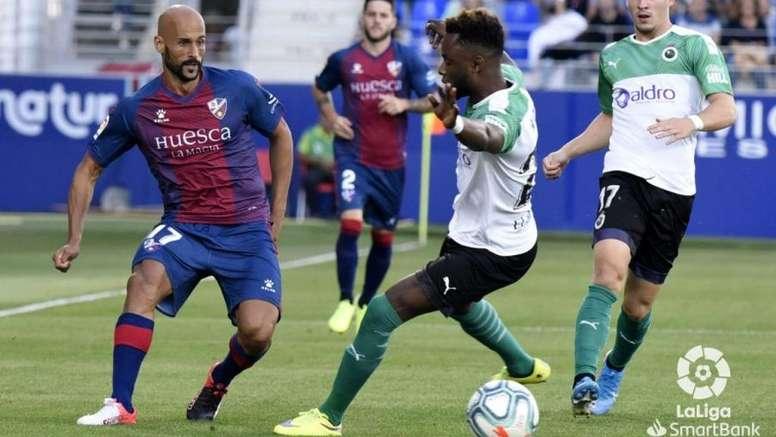 Mikel Rico está viviendo un buen momento en el Huesca. LaLiga