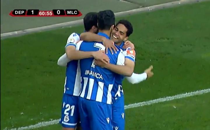 El Deportivo ganó 1-0 ante el Marino de Luanco. Captura/Footters