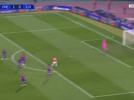 Pavkov drove home form range for his and Red Star's second. Screenshot/RMCSport