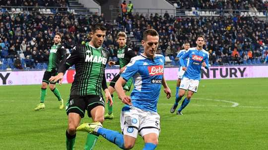 Il Napoli starebbe negoziando con l'Arsenal. AFP
