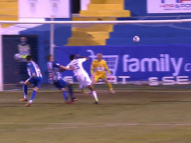 Militao header opens the scoring. Screenshot/Telecinco