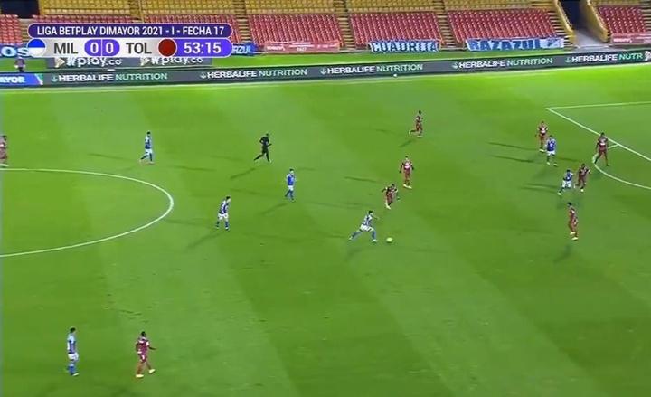 Millonarios y Tolima empataron a cero. Captura/WinSportsTV