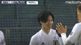 Japón ganó por la mínima. AFP