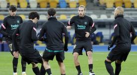 Mingueza debutó con el Barça. EFE