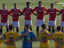 Alcorcon and Nastic paid tribute to the late Jose Antonio Reyes. Capturas/LaLiga