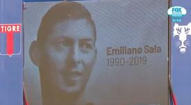 Minuto de silencio en honor a Emiliano Sala. Captura/FOXSports