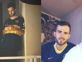 Pjanic non nasconde la passione per il Boca.Instagram/miralem_pjanic
