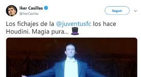 Il misterioso messaggio di Casillas sulla Juventus. Captura/IkerCasillas