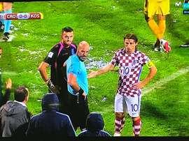 Modric foi o responsável pelo adiamento da partida. Movistar