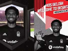 Mohamed Elneny file à Besiktas. Twitter/Besiktas