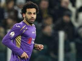 Mohammed Salah, lors de son étape à la Fiorentina. AFP