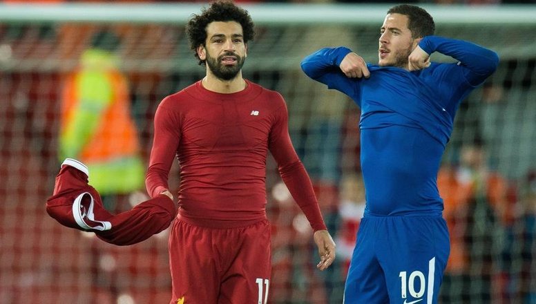 Mo Salah and Eden Hazard, during a match between Liverpool and Chelsea. EFE