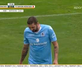 Molders, en un partido con el Munich 1860. Twitter