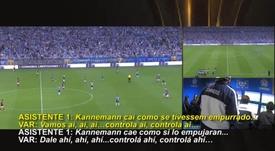 La CONMEBOL divulga los audios del VAR en el Gremio-Flamengo. Captura/CONMEBOL