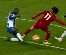 Pinto da Costa analisou a dura entrada de Salah sobre Danilo. Captura/FoxSports