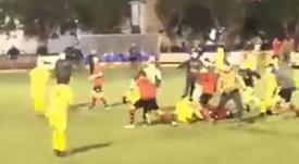 Un partido de juveniles en Mallorca termina en batalla campal. Captura/jordiJimenez