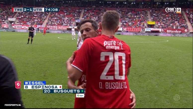 Oriol Busquets a fait ses débuts face à Twente. Capture/SkySports