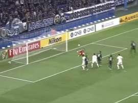 Momento del fallo de Yu Hai ante el Gamba Osaka. AFC Champions